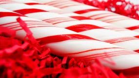 Het rode Riet van het Kerstmissuikergoed Royalty-vrije Stock Afbeeldingen