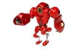 Het rode robot lopen Stock Afbeelding