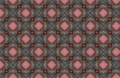 Het rode Roze Zilveren Ontwerp van het Draden Geometrische Patroon stock illustratie
