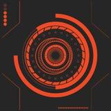Het rode Sc.i-futuristische gebruikersinterface van FI Abstract Hexagon Patroon Abstracte vectorachtergrond Stock Foto