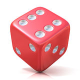 Het rode Spel dobbelt Stock Afbeeldingen