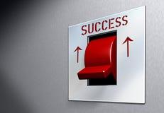 Het rode SUCCES van de Schakelaar Stock Foto's