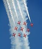 Het rode team van de pijlenvertoning Stock Afbeelding