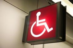 Het rode Teken van de Handicap stock fotografie