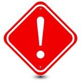 Het rode Teken van de Uitroepvoorzichtigheid Royalty-vrije Stock Afbeeldingen