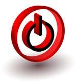 Het rode teken van het begin Stock Afbeeldingen