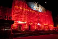 Het rode Theater Kungfu toont, Peking, China stock foto