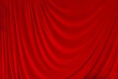 Het rode Theater van het Fluweel courtain Royalty-vrije Stock Afbeelding