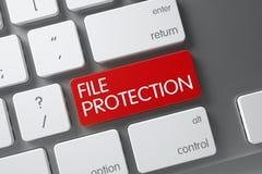 Het rode Toetsenbord van de Dossierbescherming op Toetsenbord 3d Stock Foto