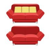 Het rode vectorontwerp van de banklaag Front View Royalty-vrije Stock Foto's
