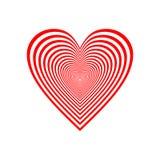 Het rode vectorontwerp van het hartpictogram Stock Afbeeldingen