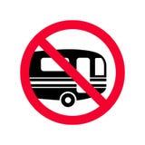 Het rode verbod ondertekent geen kampeerauto's Caravans die toegestaan niet teken parkeren royalty-vrije illustratie