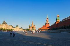 Het rode Vierkant in Moskou Royalty-vrije Stock Afbeelding