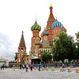 Het rode Vierkant in Moskou, Rusland Royalty-vrije Stock Afbeelding
