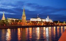 Het Rode Vierkant van Moskou bij nacht Royalty-vrije Stock Afbeelding