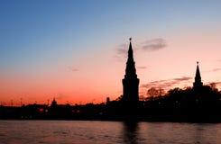 Het Rode Vierkant van Moskou bij zonsondergang Stock Foto's