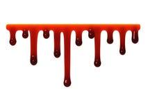 Het rode vloeibare slijm druipen royalty-vrije illustratie