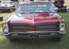 Het rode Vooraanzicht van Pontiac van 1966 Royalty-vrije Stock Foto