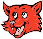 Het rode vos hoofd het grijnzen glimlachen royalty-vrije illustratie