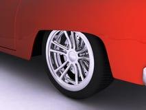 Het rode Wiel van de Sportwagen Stock Afbeeldingen