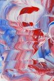 Het rode witte en blauwe schilderen Stock Foto