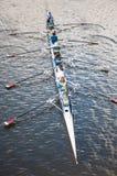 Het roeien van boot in Adelaide, Australië stock foto's