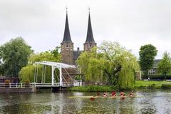 Het Roeien van Delft stock afbeelding