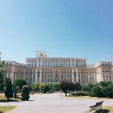 Het Roemeense parlement royalty-vrije stock afbeeldingen