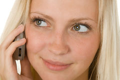 Het roepen telefonisch Stock Fotografie