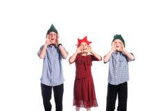 Het roepen van de Kerstman stock afbeelding