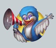 Het roepen van de vogel stock foto