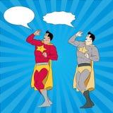 Het roepen van Superhero Stock Foto