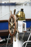 Het roer van het ouderwetse schip royalty-vrije stock afbeelding