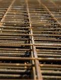 Het roesten Rebar Netwerk Stock Foto
