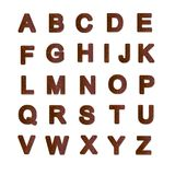 Het roestige alfabet van de metaalplaat Royalty-vrije Stock Foto