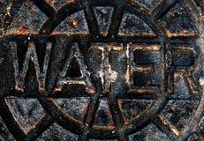 Het roestige Teken van het Water royalty-vrije stock afbeelding