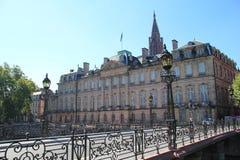 Het Rohan-paleis in Straatsburg Stock Foto