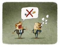 Het roken is belemmerd vector illustratie