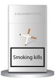 Het roken doden Royalty-vrije Stock Afbeelding