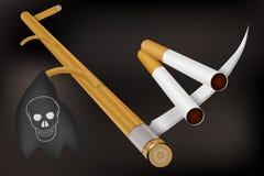 Het roken dodenconcept Stock Foto