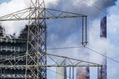Het roken dooft toren van een cokery Royalty-vrije Stock Foto