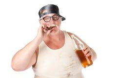 Het roken en het drinken Stock Afbeelding