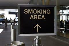 Het roken gebied Royalty-vrije Stock Fotografie