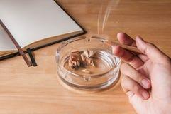Het roken het conceptenidee van de potloodsigaret Royalty-vrije Stock Foto