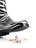 Het roken - niet meer Stock Foto