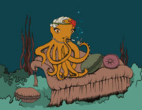 Het roken Octopus Royalty-vrije Stock Fotografie