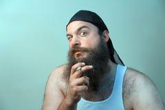 Het roken Redneck Royalty-vrije Stock Afbeeldingen