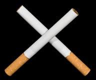 Het roken van het einde. Stock Foto