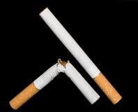 Het roken van het einde. Stock Foto's