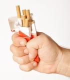 Het roken van het einde Royalty-vrije Stock Fotografie